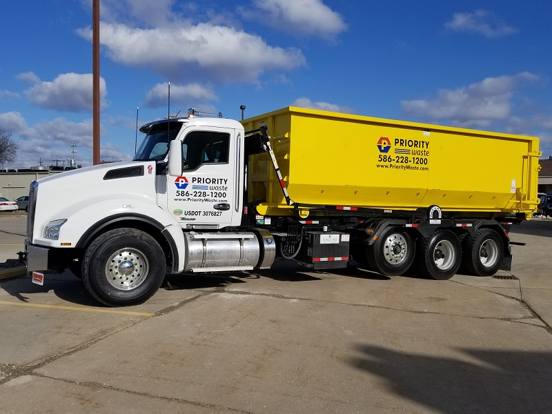We Are Priority Waste Michigan Dumpster Rentals