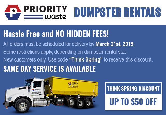 Priority Waste Dumpster Container coupon