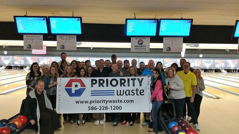 Priority Waste Bowling Fundraiser 2019