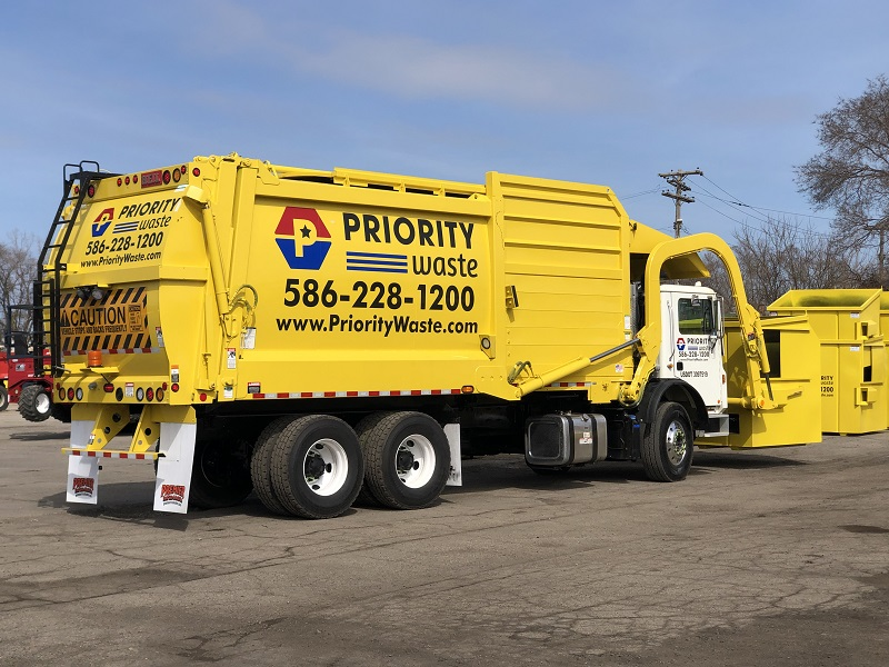 Priority Waste Garbage Truck
