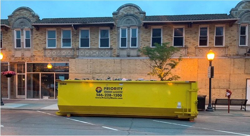 Priority Waste dumpster sizes