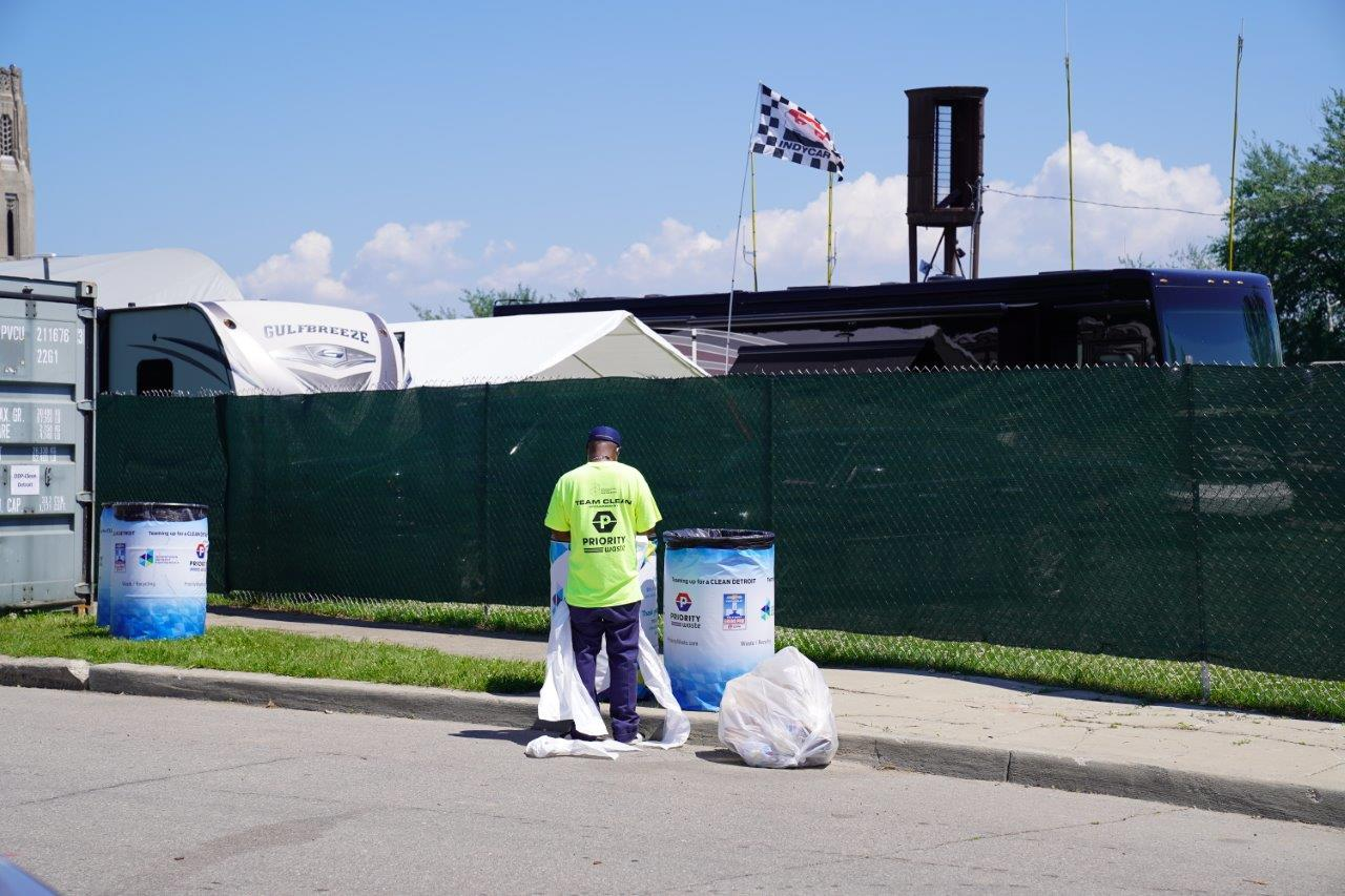 Priority Waste Team Cleans Belle Isle During the Chevrolet Detroit Grand Prix